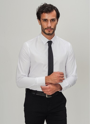 People By Fabrika Düğmesiz Yaka Gömlek Beyaz